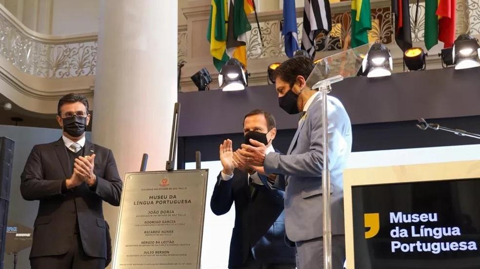Doria critica negacionismo durante reinauguração do Museu da Língua Portuguesa